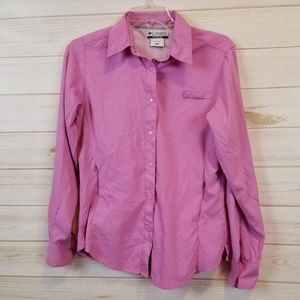 Columbia Women's pink vented shirt top size small
